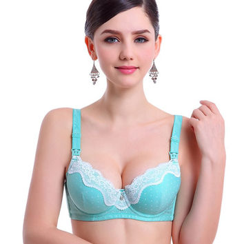 New Pregnant Women Lace Cotton Maternity Nursing Bra Feeding Underwired Bras Hot Sujetador LH2