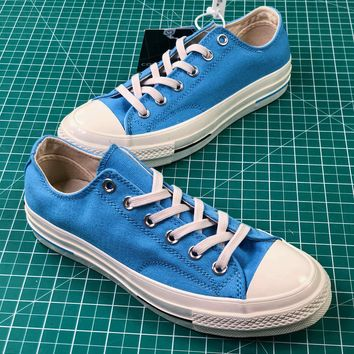 Converse Chuck 1970s Heritage Blue Low Canvas Shoes - Sale e1c6661de3