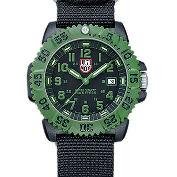Luminox Mens Olive Drab Military Series Watch Two NATO Straps - Retired
