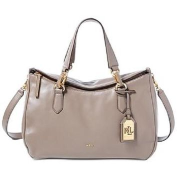 Lauren by Ralph Lauren Women's Bramfield Truffle Carlene Satchel