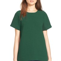 Women's Madewell Pleated Short Sleeve Tee,