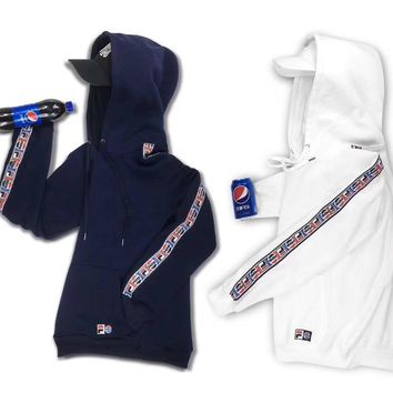 FILA x Pepsi Fashion Hoodie Top Sweater