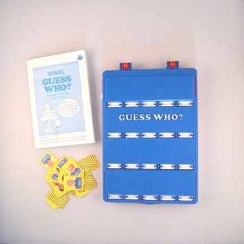 Vintage 1989 Guess Who Travel Edition Mystery Face Game from Milton Bradley Game  For Two Players