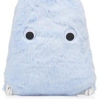 Faux Fur Face Drawstring Backpack - Topshop