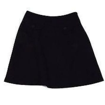 GAP womens Little Black Dressy Skirt Size 1 Slight Flare Lined Textured Fabric