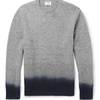 Acne Studios - Dip-Dye Mélange-Knit Wool Sweater | MR PORTER