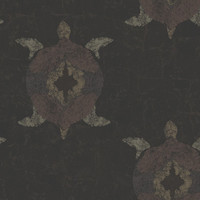 Sample of Snappy Turtles Wallpaper in Greys and Neutrals design by Ronald Redding