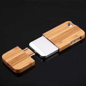 Wood Wooden Bamboo Back Case Cover Skin Protector For iPhone 5G 5S NewWood Wooden Bamboo Back Case Cover Skin Protector For iPhone 5G 5S New