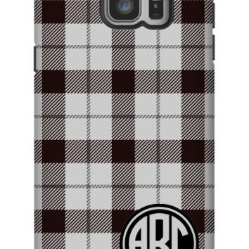 Plaid Monogram Galaxy Note 5 Extra Protective Bumper Case