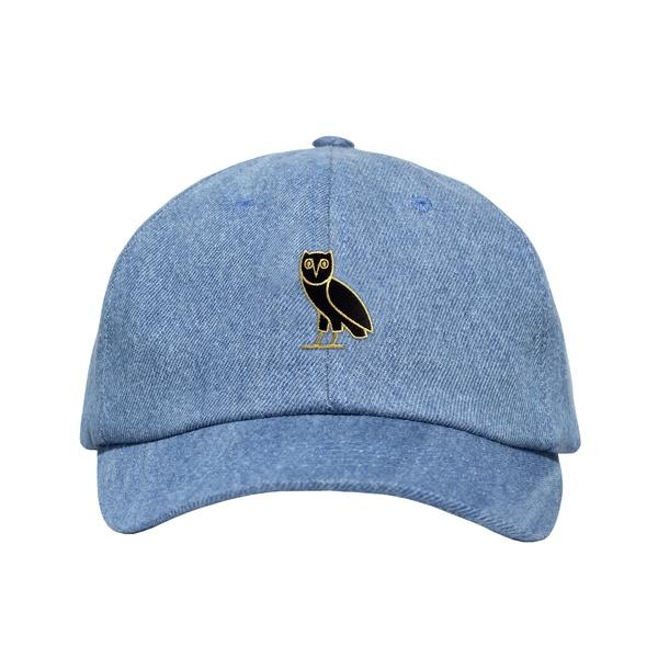 Ovo Owl Hat: GOLD OWL DENIM SPORTCAP STRAPBACK From October's Very Own
