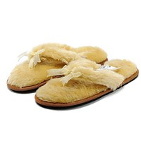 UGG Women Wool Fur Slippers Shoes
