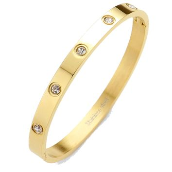 Love Bracelets ?  Stainless Steel and Crystal Bangle