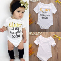 Newborn baby clothes boy girl cotton short sleeve summer romper letter printed romper roupas de bebe infantil costumes