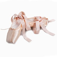 New brand Professional Dance Shoes Women Satin Pointe Shoes Girls Pink Ballet Shoes