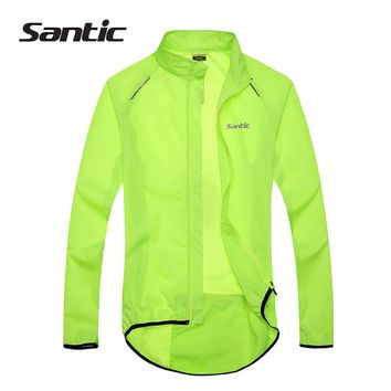 Santic Men Cycling Jacket UPF30+ MTB Bicycle Bike Rain Jacket Raincoat Long Sleeve Outdoor Sport Windproof Cycle Clothing 2017