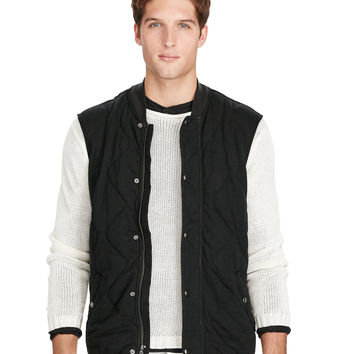 QUILTED JERSEY VEST