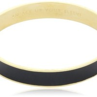 "kate spade new york ""An Ace Up Your Sleeve"" Gold-Tone Black Idiom Bangle Bracelet"