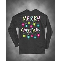 Sweet Thing Merry Christmas Xmas Ornament Girlie Long Sleeve Bright T-Shirt
