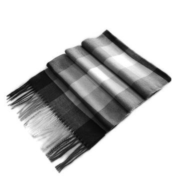 Winter Scottish Plaid Shawl for Bussiness Men British Style Scarf Warm Dark Color Burr Long Pashmina Man Scarf Cashmere P30