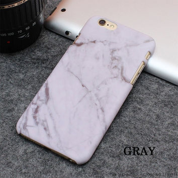 Hot Selling Fashion Marble Phone Cases Frosting Hard PC Case for iPhone 7 6 6S Plus 5 5S SE Ultrathin Stone texture Back Cover-04105