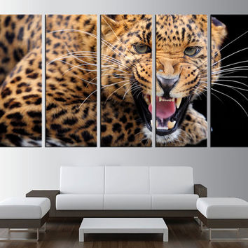 large canvas  leopard wall art canvas print, extra large wall art, wildwide cats canvas print art, animal canvas wall art,  t159