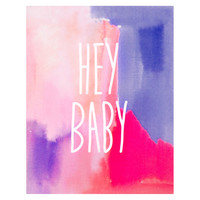 Hey Baby Watercolor Card