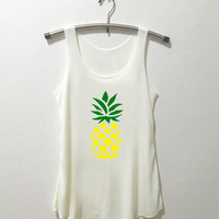 Pineapple Tank Top Pineapple Tumblr Instagram Shirt Vintage Style