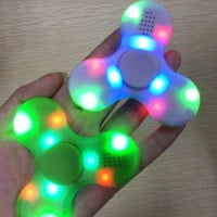 New Fidget Spinner USB LED mini Bluetooth Music Hand Spinner Fidget toy EDC Toy Decompression Anxiety Toys Gyro Toys With Retail Box