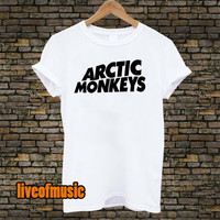 Arctic Monkey Tshirt Black and White For Men and Women Unisex Size from liveofmusic