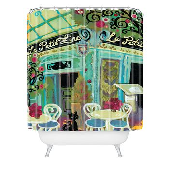 Natasha Wescoat Le Petit Zinc Shower Curtain