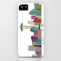 Seattle city  iPhone & iPod Case by bri.buckley