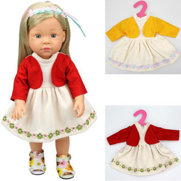 1 pcs dress for doll  American girl doll dress clothes reborn baby doll clothes for 16""