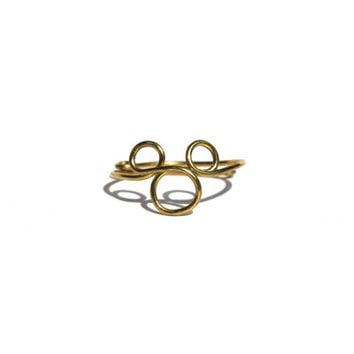 Gold Mickey Mouse Wire Ring