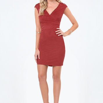 ALINA FAUX SUEDE DRESS