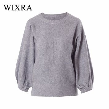 Wixra Warm and Charm 2017 New Fashion Women Thick Pullover Sweater Lady Boat Neck Batwing Sleeve Wool Knitted Jumper Woolen Coat