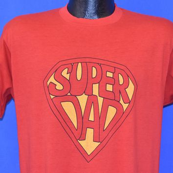 80s Super Dad Superman Style t-shirt Medium