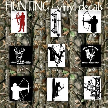 HUNTING vinyl decals - 73-81 -vinyl decal - vinyl sticker - vinyl car decal - decals - vinyl - stickers - decal - custom vinyl sticker