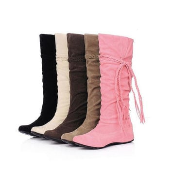 Womens Casual Roped High Boots
