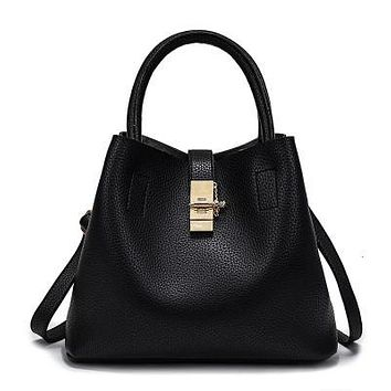 Women's Hand Bag with Gold Clasp 3 Colors Available