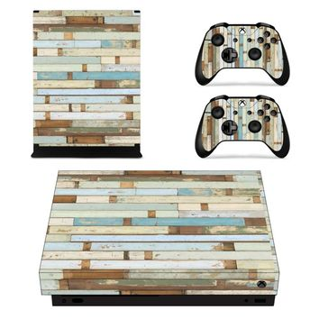 X0295 Game accessories Skin Sticker for Microsoft Xbox One X Console and 2 Controllers skins Stickers for XBOXONE X Enhanced