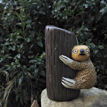 The Sloth Polymer Clay Sloth Animal Sculpture
