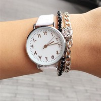 2017 New Fashion Arabic Numbers Women Watch Luxury Ultra Thin Women Quartz Wristwatch Lady Watch Clock Female Montre Femme Saat