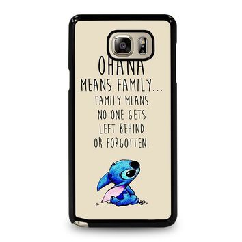 STITCH LILLO OHANA FAMILY QUOTES Samsung Galaxy Note 4 Case Cover