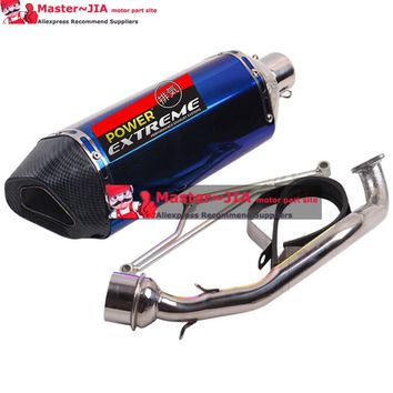 GY6 125 150CC high performance Motorcycle modified Scooter yoshimura muffler exhaust pipe fit 157qmj 152qmi 4 Stroke engine
