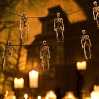hanging skeleton garland