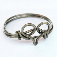 Gunmetal Heart Ring | Luulla