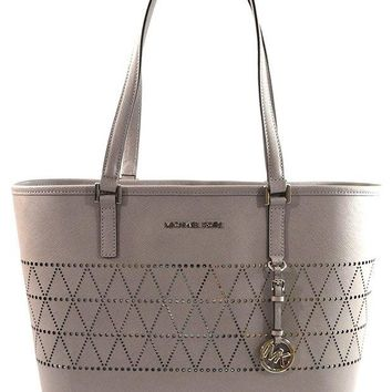 DCCKUG3 MICHAEL Michael Kors Women's Jet Set Travel Carry All Medium TOTE Leather Handbag