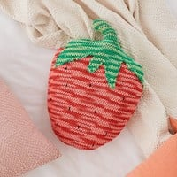 Crochet Strawberry Throw Pillow | Urban Outfitters