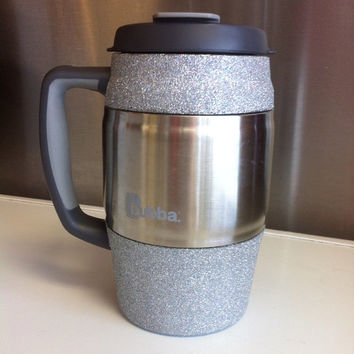 Glittered Insulated Mug / Bubba Keg - Silver