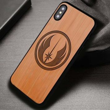 Star Wars Jedi Wooden - iPhone X 8+ 7 6s SE Cases & Covers #iPhoneX